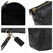coach 28969 small kelsey satchel black leather bag purse nwt