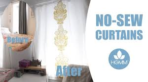 No Sew Curtains Diy No Sew Curtains Tutorial Youtube