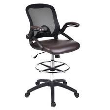 adjustable chairs with wheels. office drafting chair swivel mesh mid back adjustable pu leather seat footrest chairs with wheels