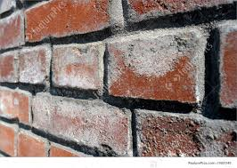 texture background of old red brick wall converging perspective