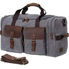 wowbox travel duffels weekender bag men leather canvas large mens overnight