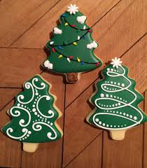 Sugar Cookie Tree Designs Simple Christmas Tree Cookies Sugar Cookies Christmas