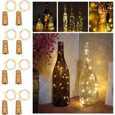home wine room lighting effect. Battery Operated Wine Bottle Lights Cork Shaped Bar String LED Party Home Room Lighting Effect