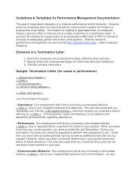 Free Termination Letter For Poor Sales Performance Templates At