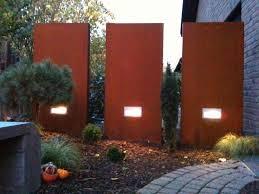 Stelen Aus Metall F R Jeden Garten Ein Muss Sichtschutz Cm Hoch Und Cm Breit Mit Licht Hause Und Garten Stelen Granit Stelen Metall