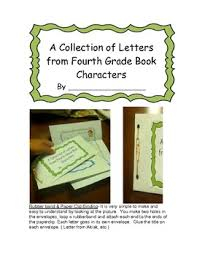 letter to 4th grade character book project themes 1 2
