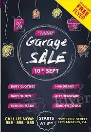 Free For Sale Flyer Template Garage Sale Free Psd Flyer Template Psdflyer Co
