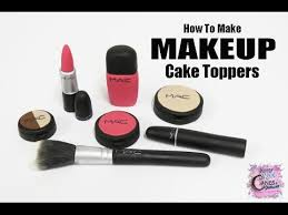 makeup cake toppers easy how to