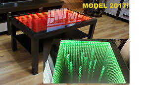 infinity mirror table. image is loading black-table-led-3d-coffee-table-illuminated-infinity- infinity mirror table