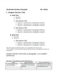 College Textbook Chapter Outline Template Review Sample Law