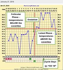 Sample Bbt Chart Showing Ovulation Pin On Female Fertility