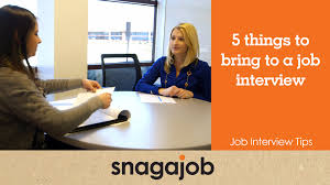 Job Interview Tips Part 6 5 Things To Bring To A Job Interview