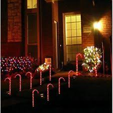 Outdoor Christmas Candy Cane Decorations 60pcs Outdoor Christmas Candy Cane Pathway Lights Driveway Markers 24