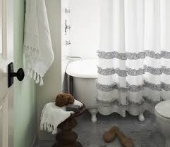 grey and white striped shower curtain. view in gallery navy blue and white shower curtain with ruffled trim grey striped