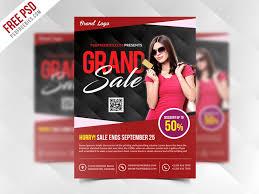 Free Flyer Freebie Grand Sale Flyer Template Free Psd By Psd Freebies