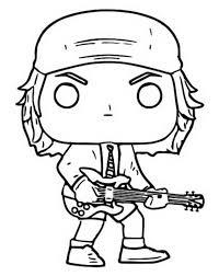 Kleurplaat Funko Pop Rocks Acdc Angus Young 9