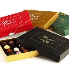 bespoke branded promotional 24 choc your logo extra large personalised chocolate gift box group