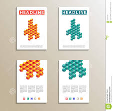 Wikipedia Layout Template Four Brochure Catalog Cover Page Layout Template Orange And Blue