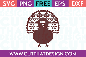 Cute pumpkin with leaves and thanksgiving hat svg, eps, ai file. Free Svg Files Turkey Design 2 Cut That Design