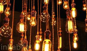 chandeliers with edison bulbs urban recycled use vintage cool coils chandelier canada
