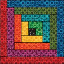 rainbow log cabin - page has link to pdf pattern | quilts ... & rainbow log cabin - page has link to pdf pattern | quilts, tutorials and  patterns | Pinterest | Log cabins, Cabin and Log cabin quilts Adamdwight.com