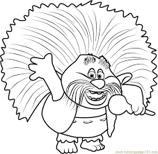 Small Picture King Peppy from Trolls Coloring Page Free Trolls Coloring Pages