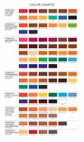 Tarrago Leather Dye Color Chart Illustration Fiebings Leather Dye Color Chart Cocodiamondz Com