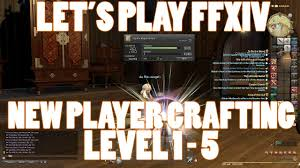 Ffxiv 2 55 0582 New Player Crafting Guide Level 1 To 5
