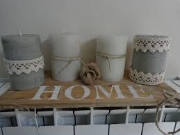 Candele country composizione per la casa e per te decorare