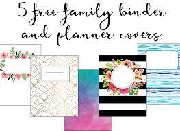 Free Printable Binder Covers Family Binder Covers Free Planner Covers Family Binder Covers