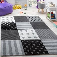 details about baby nursery rug black white grey mats new small large children star play carpet
