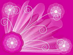 Pink Abstract Floral For Powerpoint Templates Ppt Backgrounds