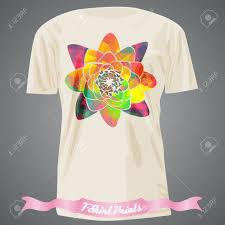 Shirt Design Flower T Shirt Design With Rainbow Flower