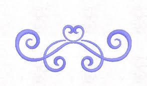 Scroll Heart Scroll Heart Embroidery Design Divider Pattern 4x4 Hoop Multiple Formats Download
