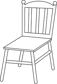 chair clipart.  Clipart Svg Royalty Free Download Chair Clipart Line Drawings Of Chairs To Clipart A