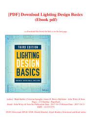 Lighting Design Basics Mark Karlen Pdf Pdf Download Lighting Design Basics Ebook Pdf