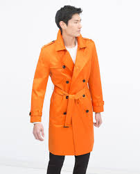 zara orange trench coat mens tradingbasis