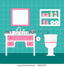 cartoon bathroom sink and mirror. Contemporary And Bathroom Sink With Mirror And Toilet Flat Vector Illustration Intended Cartoon Sink And Mirror A