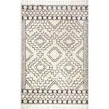 vasiliki moroccan tribal tassel off white 4 ft x 6 ft area rug
