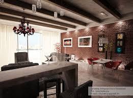 red exposed brick wallinterior design