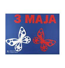 Dekoracje Konstytucja 3 maja, Święto Niepodległości NAPIS 3 MAJA dekoracje  szkolne Kolor Złamana biel