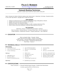 Language Skills Resume Sle Technical Resume Computer Technician