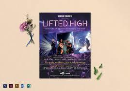 Concert Flyer Templates Free Concertlyer Template Samples Poster Psdree Rock Photoshop