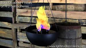 table top hanging flame light demonstration