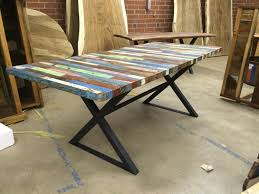 Distressed Wood Kitchen Table Trestle Dining Tables Custommadecom