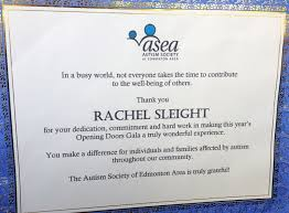 Volunteer Certificate Autism Society Volunteer Certificate Rachel Sleights Eportfolio