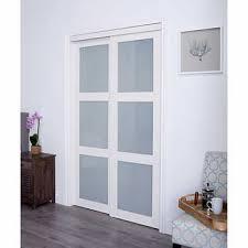 Closet doors Glass Costco Wholesale Renin Euro Style Off White Tempered Glass Sliding Closet Door