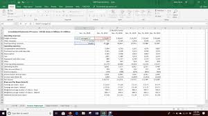 Pro Forma Income Statement Percent Of Sales Excel 2016