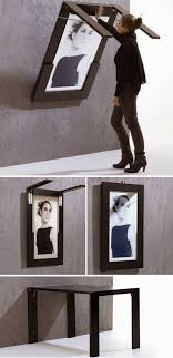 foldaway furniture. diy folding table doubles as picture frame this would be great in a small kitchen foldaway furniture