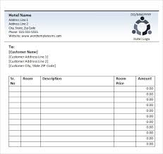Receipt Template Download Sample Hotel Receipt Template 16 Free Download For Pdf Word